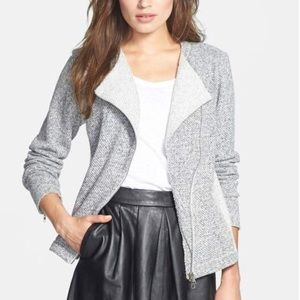 Eileen Fisher Twisted Terry Moto Jacket